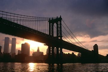 Manhattan Bridge Sunset